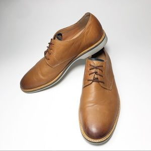Clarks Atticus Oxford Leather Brown Lace Up Shoe